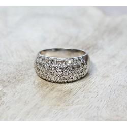 Bague en Or Blanc Pavage Diamants