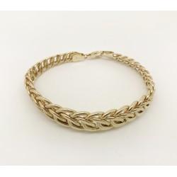 Bracelet Maille Anneaux en Or jaune