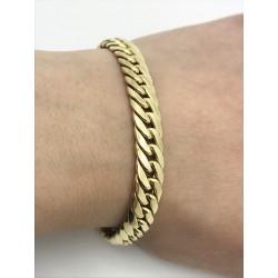 Bracelet en Or jaune Maille Gourmette