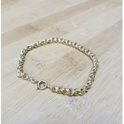 Bracelet Or jaune maille corde
