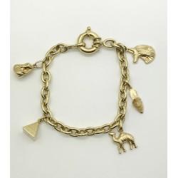 Bracelet Egyptien en Or jaune avec Pampilles