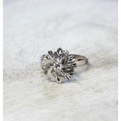Bague en Or blanc monture Ancienne avec Diamant