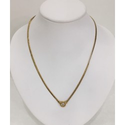 Collier maille Anglaise avec Diamant