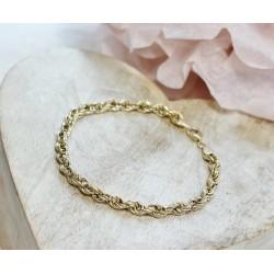 Bracelet en Or jaune Maille Torsadée