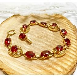 Bracelet en Or jaune avec Pierres Colorées