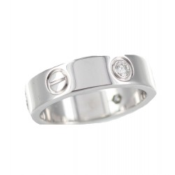 Bague Love 3 diamants en or gris de chez Cartier