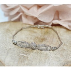 Bracelet en Or blanc avec Oxydes