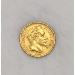 Pièce en or jaune Napoléon 20 francs