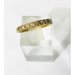 Alliance en Or jaune avec Diamants