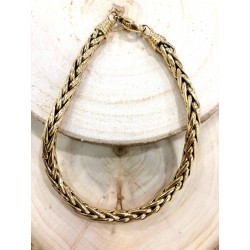 Bracelet maille palmier or jaune