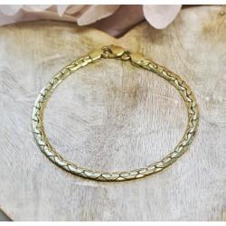Bracelet Maille Haricot en Or jaune