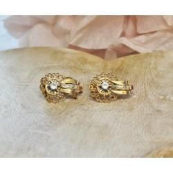 Boucles d'oreille 2 Ors avec Oxydes