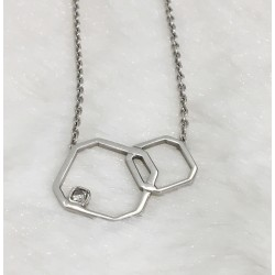 Collier en Or blanc avec Diamant