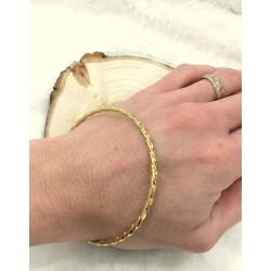 Bracelet jonc torsadé