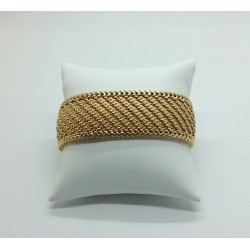 Bracelet Ruban en or jaune maille Polonaise