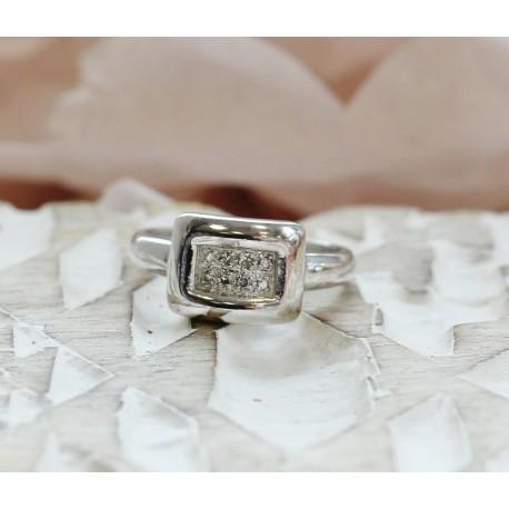 Bague en Or blanc avec diamants