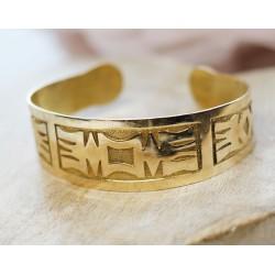 Bracelet esclave en or jaune