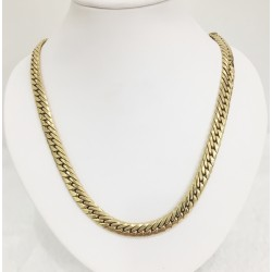 Collier maille Plate en Or jaune