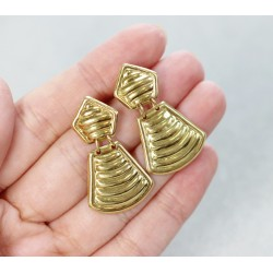 Boucles d'oreille en Or jaune 18k