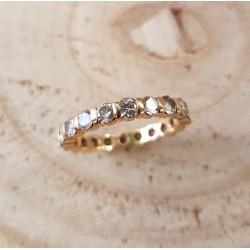 Bague Alliance en Or jaune avec Diamants 2ct au total