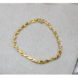 Bracelet en Or jaune et blanc