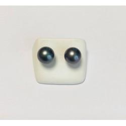 Boucles d'oreille or jaune et Perles de Tahiti