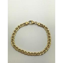 Bracelet maille marine en or jaune