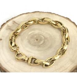Bracelet en or jaune maille olive