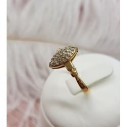 Bague Marquise en or jaune et diamants