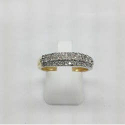 Bague en or jaune pavage diamants