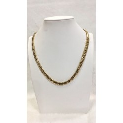 Collier maille Anglaise en or jaune 18K