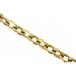 Bracelet or jaune maille forçat