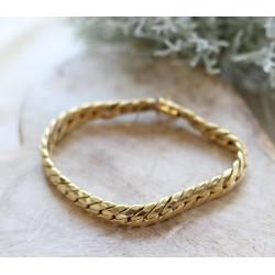 Bracelet en or jaune Maille anglaise