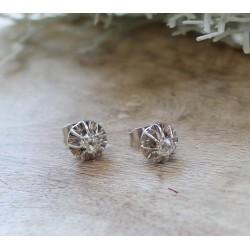 Boucles d'oreille platine et diamants