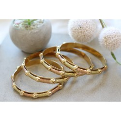 4 Bracelets jonc 2 ors