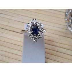Bague Marguerite Diamants et saphir