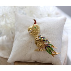 Broche Perroquet en or
