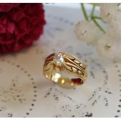 Bague en or jaune avce diamant 0.50cts environ
