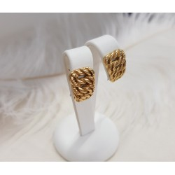 Boucles d'oreille style maille Américaine