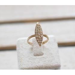 Bague marquise Or jaune et Diamants