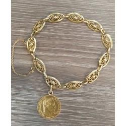 Bracelet Or jaune et Napoléon III