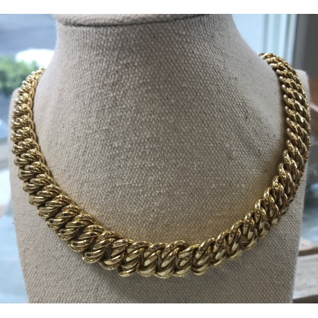 Collier Maille Americaine or Jaune