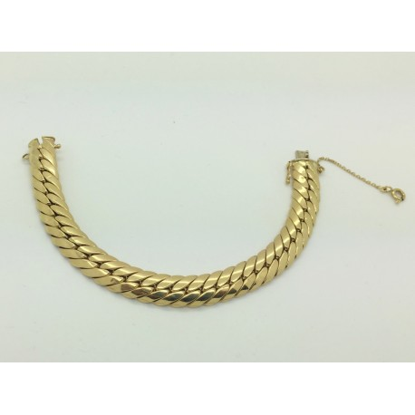 Bracelet maille anglaise en or jaune