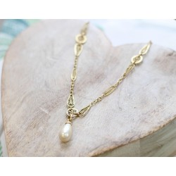 Collier Maille filigrane et perle