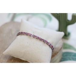 Bracelet rivière de saphirs rose
