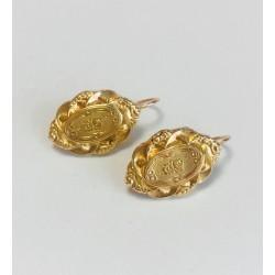 Boucles d'oreille dormeuse en or jaune