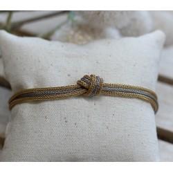 Bracelet 2 Ors noeud