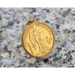 Pendentif Pièce 20 francs 1875 GENIE