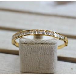 Bracelet rigide Or jaune et Diamants