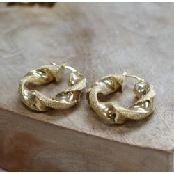 Boucles d'oreille créole or jaune